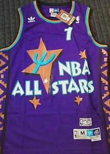 detailed look c3699 78db2 NEW Anfernee Penny Hardaway 1995 All Star #1 Jersey Purple M ...