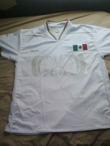 df4b50571bb70 Mexico mens 2013 Olympic Olimpiadas white football jersey brand size M - Mexico  national
