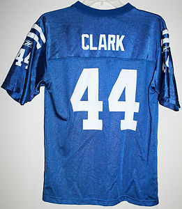 Vintage NFL Dallas Clark #44 Indianapolis Colts Jersey kids large 14