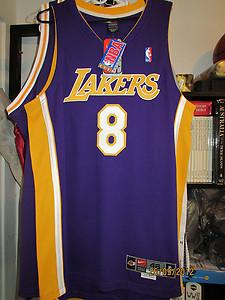 f8b85d40953e Nike KOBE BRYANT 00-01 LA LAKERS Away PRO CUT NBA Jersey SIZE 46 + 4 ...