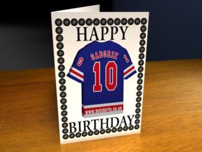 NEW YORK RANGERS NHL BIRTHDAY CARD