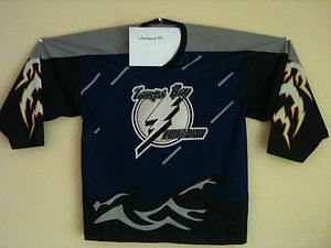 pretty nice d9ed6 fab16 Tampa Bay Lightning Alternate Jersey RARE NHL Stanley Cup ...