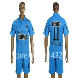 pretty nice 51b0d 0ba8c Santos away #11 NEYMAR Football kit football jerseys 12-13 ...