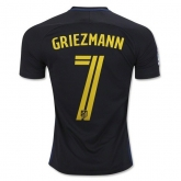 16-17 Atletico Madrid Away Griemann #7 Black Jersey Shirt