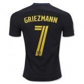 16-17 Atletico Madrid Away Griemann #7 Black Jersey Shirt