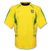 2002-2003 Brazil Home Yellow Retro Jersey Shirt