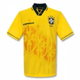 1993-1994 Brazil Home Yellow Retro Jersey Shirt