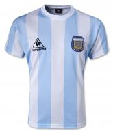 1986 Argentina Retro Home Soccer Jersey Shirt