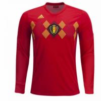 2018 World Cup Belgium Home Long Sleeve Jersey Shirt