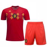 2018 World Cup Belgium Home Jersey Kit(Shirt+Short)