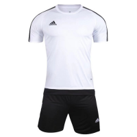 1602 Customize Team White Soccer Jersey Kit(Shirt+Short)