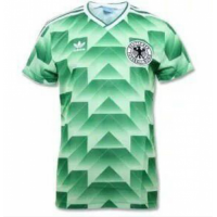 1988-1990 West Germany Retro Away Green Soccer Jersey Shirt