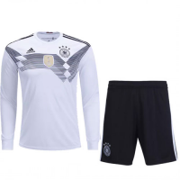 2018 Germany Home Long Sleeve Jersey Kit(Shirt+Short)