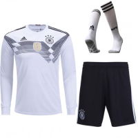 2018 Germany Home Long Sleeve Soccer Jersey Whole Kit(Shirt+Short+Socks)