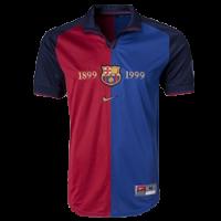 1999-2000 Barcelona Home 100-Yeas Anniversary Jersey Shirt