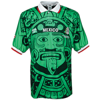 1998 Mexico Retro Home Green Soccer Jersey Shirt