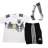 2018 World Cup Germany Confed Cup Home White Children's Jersey Whole Kit(Shirt+Short+Socks)