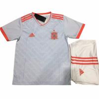 2018 World CupSpain Away White Children's Jersey Kit