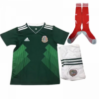 2018 World Cup Mexico Home Children's Jersey Whole Kit(Shirt+Short+Socks)