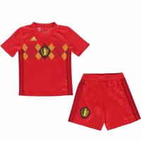 2018 World Cup Belgium Home Red Children's Jersey Kit(Shirt+Short)