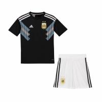 2018 World Argentina Away Black Children's Jersey Kit(Shirt+Short)