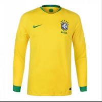 2018 World Cup Brazil Home Yellow Long Sleeve Soccer Jersey Shirt