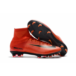 NK Mercurial Superfly V FG boots-Orange