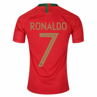 2018 World Cup Portugal  #7 RONALDO  Home Red Jersey Shirt