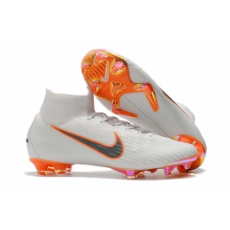 NK Mercurial Superfly VI 360 Elite FG Soccer Cleats-White
