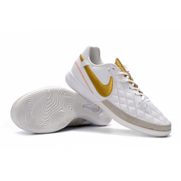 NK TimpoX Finale IC Soccer Cleats-White&Golden