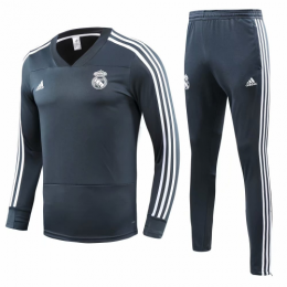 18-19 Real Madrid Green Training Kit( Sweat Top Shirt+Trouser)