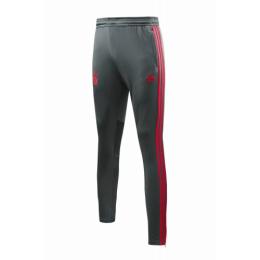 18-19 Bayern Munich Gray&Red Stripe Training Trouser