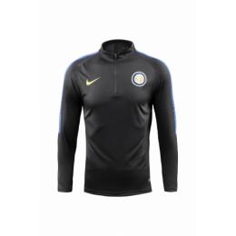 18-19 Inter Milan Black Zipper Sweat Top Shirt
