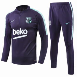 18-19 Barcelona Purple Training Kit(Zipper Sweat Top Shirt+Trousers)