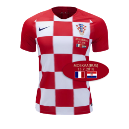 2018 World Cup Croatia Final Version Home Red Jersey Shirt(Shipping Before 24th July)