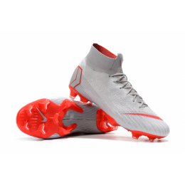NK Mercurial Superfly VI Elite FG Soccer Cleats-Gray