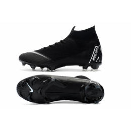 NK Mercurial Superfly VI Elite FG Soccer Cleats-Black