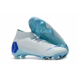 NK Mercurial Superfly VI Elite FG Soccer Cleats-Green&Blue