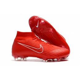 NK Mercurial Superfly VI 360 Elite FG Soccer Cleats-Red