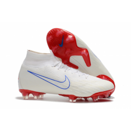 NK Mercurial Superfly VI 360 Elite Team USA FG Soccer Cleats-White