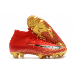 NK Mercurial Superfly VI CR7 360 Elite FG Soccer Cleats-Red