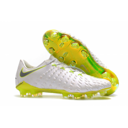 NK Hypervenom Phantom III Elite FG Soccer Cleats-White