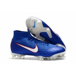 "NK Mercurial Superfly VI 360 Elite ""Team"" USA FG Soccer Cleats-Blue"
