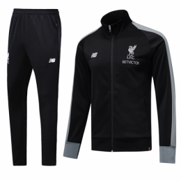 18-19 Liverpool Black High Neck Collar Training Kit(Jacket+Trouser)