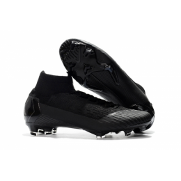 NK Mercurial Superfly VI 360 Elite FG Soccer Cleats-All Black