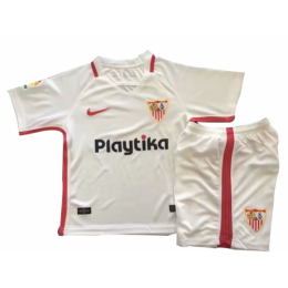 18-19 Sevilla Home White Children's Jersey Kit(Shirt+Short)