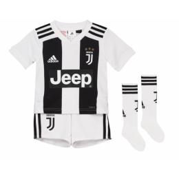 18-19 Juventus Home Children's Jersey Whole Kit(Shirt+Short+Socks)
