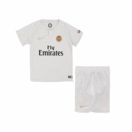 18-19 PSG Away White Children's Jersey Kit(Shirt+Short)