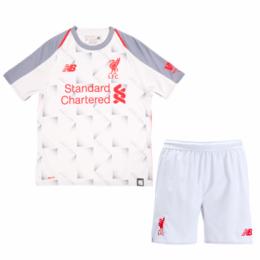 18-19 Liverpool Third Away Gray Children's Jersey Kit(Shirt+Short)