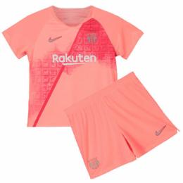 18-19 Barcelona Third Away Pink Children's Jersey Kit(Shirt+Short)